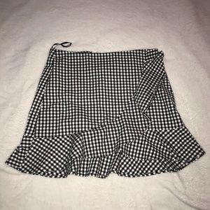 Forever 21 Plaid Ruffle Skirt
